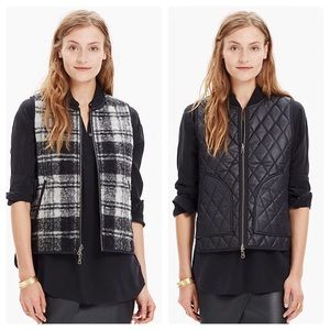 Madewell Reversible Vest in Copeland Plaid